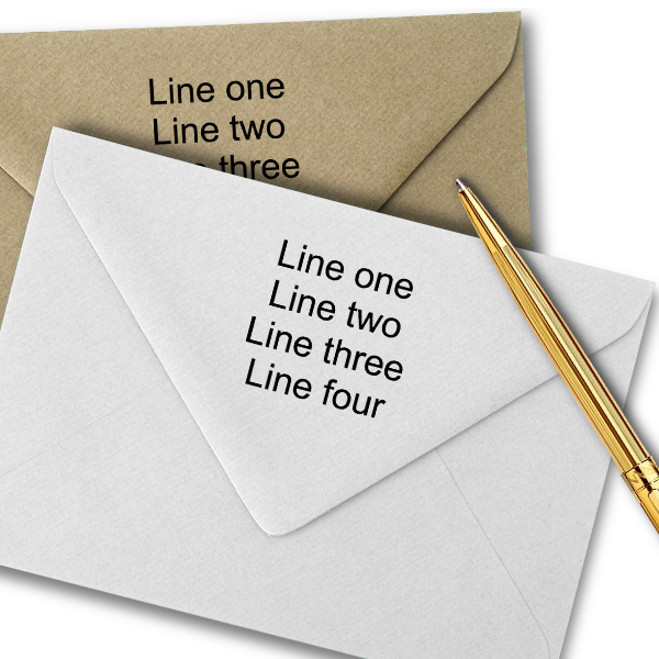 4 Line Traditional Rubber Address Stamp