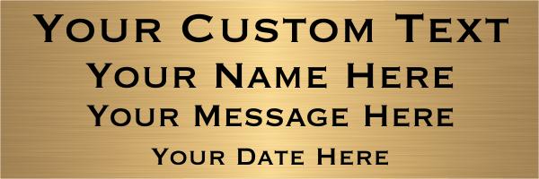Custom Four Line Brass Sign