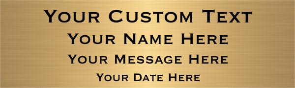 Medium 4 Line Custom Brass Sign