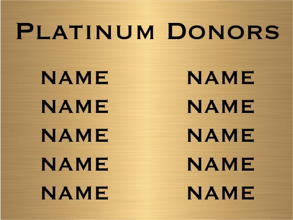 8 Name Brass Plaque
