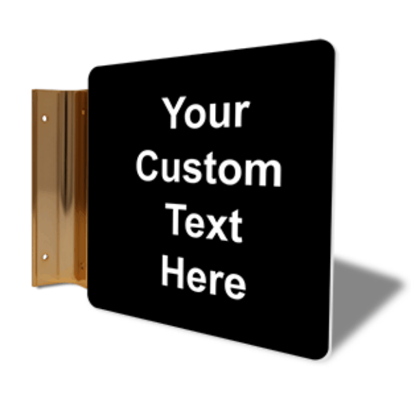 """Custom Text Projection Sign   6"""" x 6"""""""