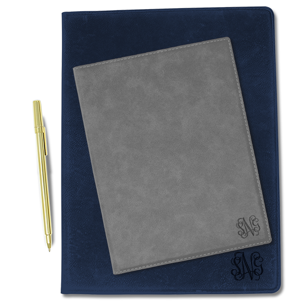 Small Corner Monogram Leatherette Portfolio