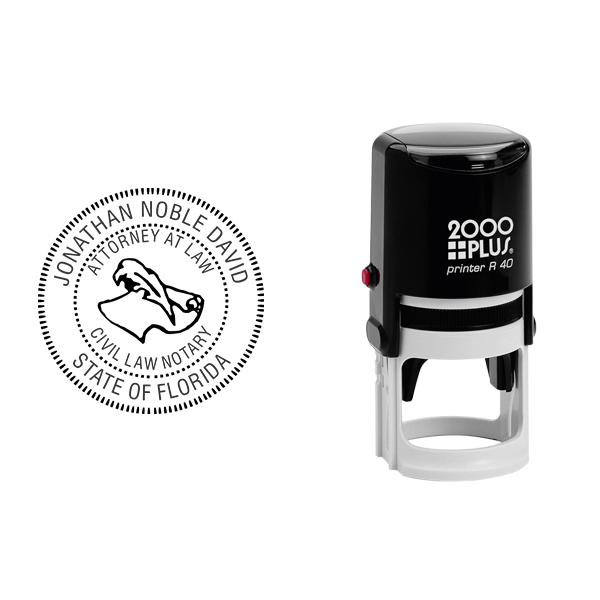 Florida Civil Law Notary Stamp Body and Design