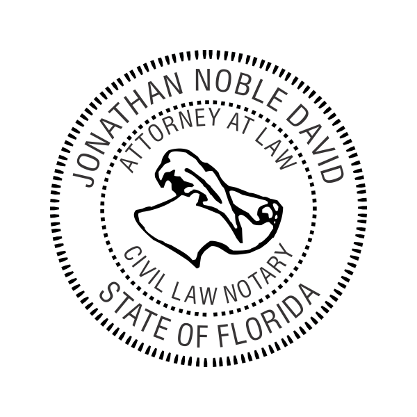 Florida Civil Law Notary Stamp Imprint Example