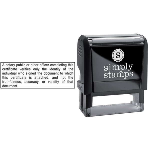 California Notary Disclosure Stamp Body and Design