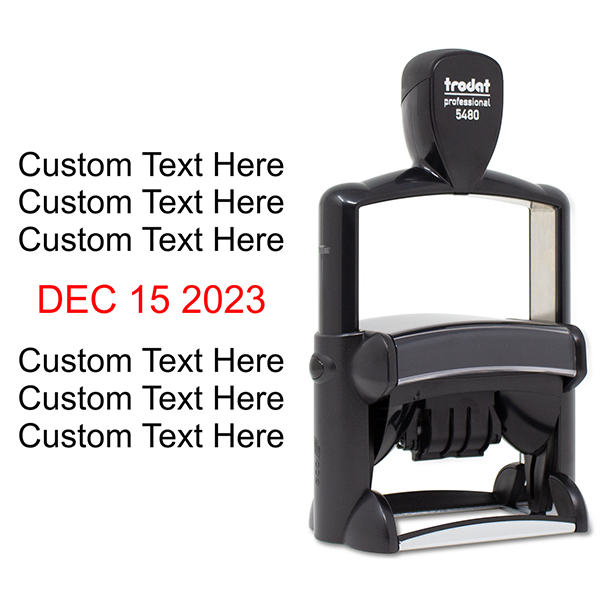 Cosco Dater 5480 with Custom Text Stamp Body and Design