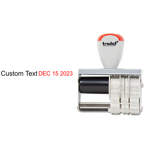 Trodat Dater 3150 with Custom Text Stamp Body and Design