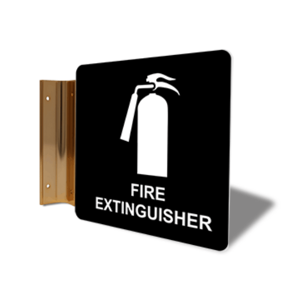 """Fire Extinguisher Projection Sign   6"""" x 6"""""""