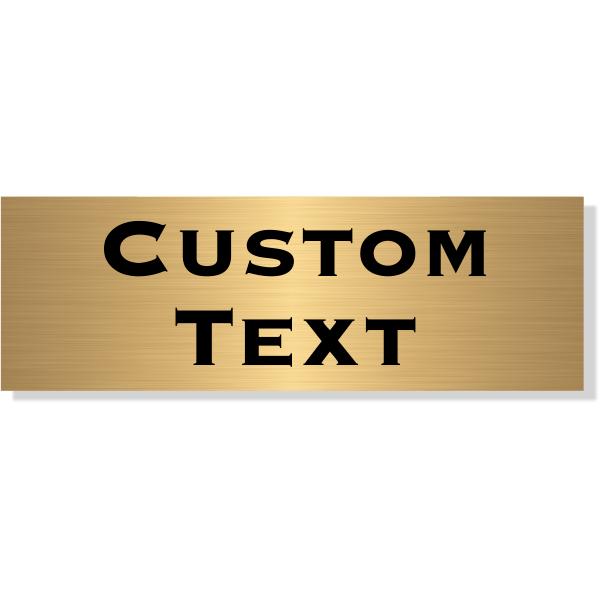 "Double Line Custom Text Brass Plate | 2"" x 6"""