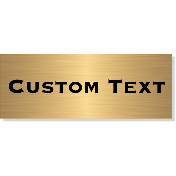 "Single Line Custom Text Brass Plate | 3"" x 8"""