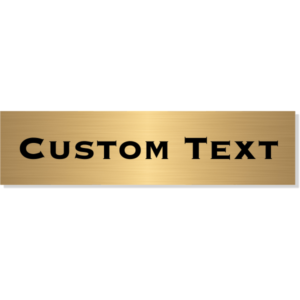 "Single Line Custom Text Brass Plate | 3"" x 12"""
