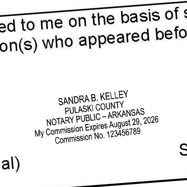 Arkansas Notary Rectangle Stamp Imprint