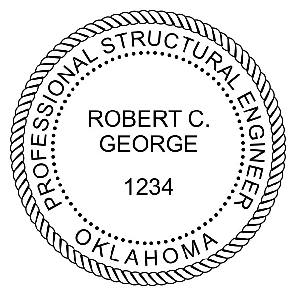 State of Oklahoma Structural Engineer Seal Imprint