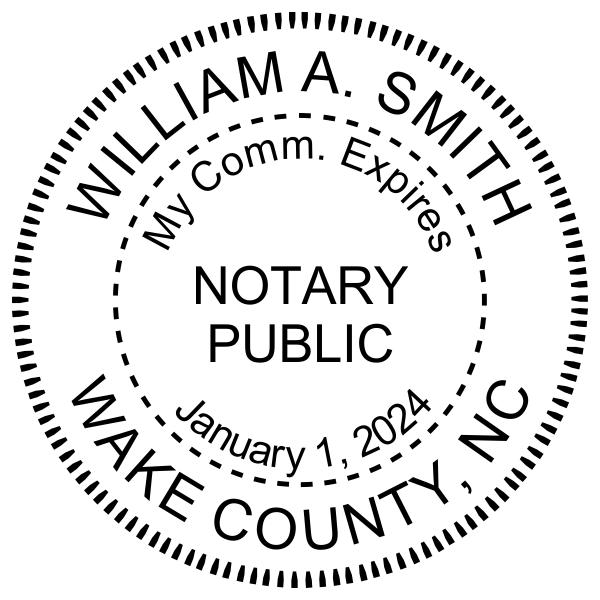 North Carolina With Expiration Date Notary Pink - Round