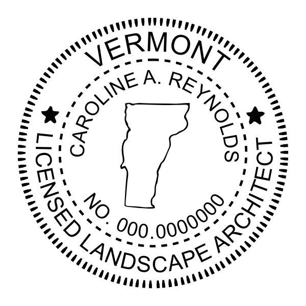 State of Vermont Landscape Architect Imprint