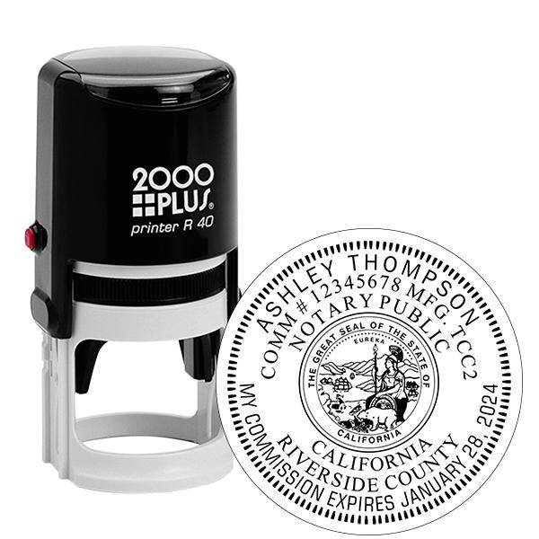 California Notary Round Stamp
