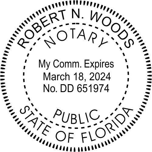 Florida Notary Round