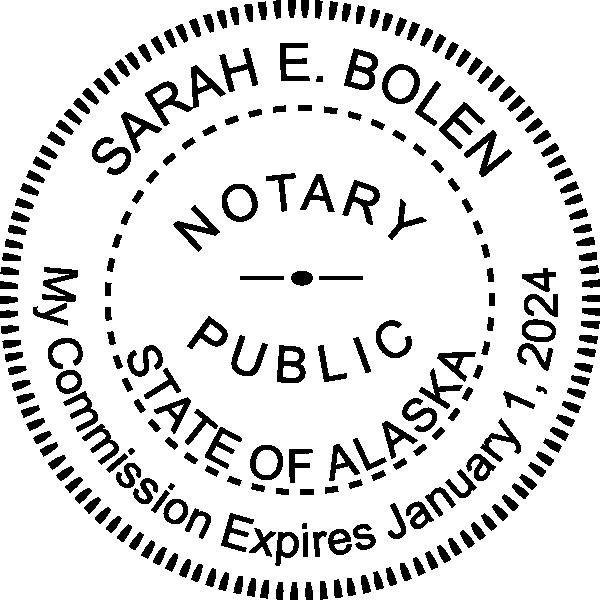 Alaska Notary Round Seal Embosser