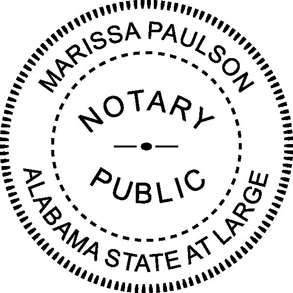 Alabama Notary Pink Seal Embosser - Round