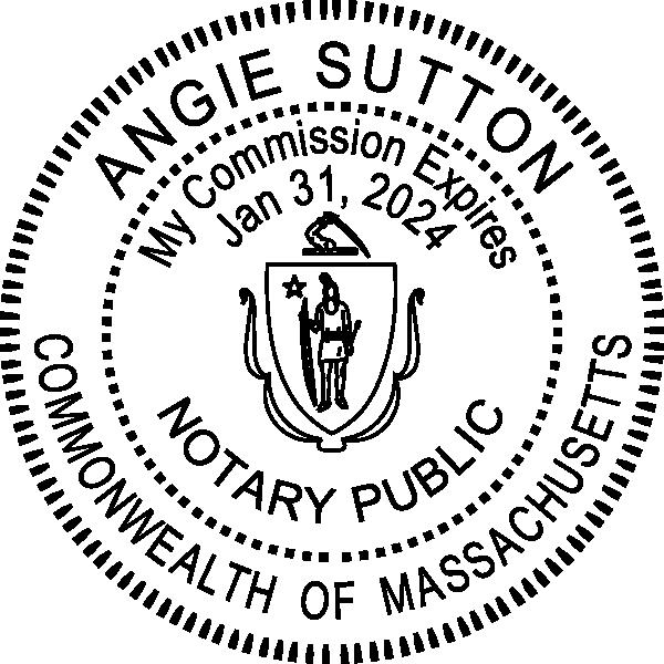 Massachusetts Notary Pink Seal Embosser - Round