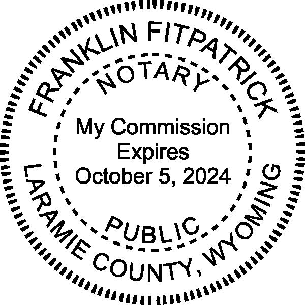 Wyoming Notary Pink Seal Embosser - Round