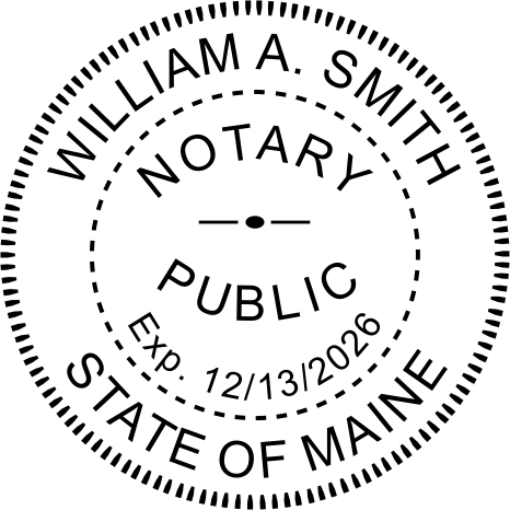 Maine Notary Round Imprint