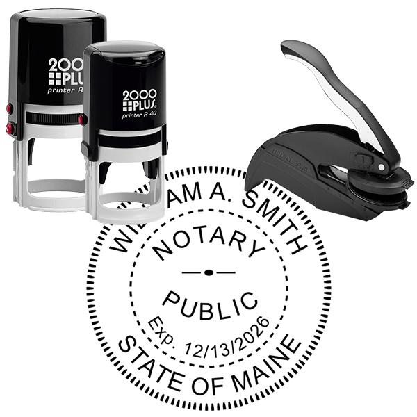Maine Notary Round Seal