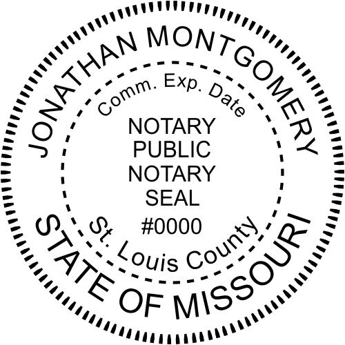 Missouri Notary Round Imprint