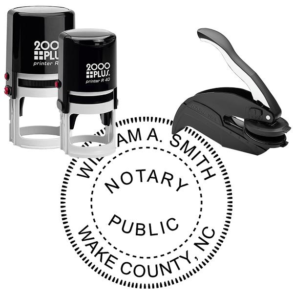 North Carolina Round Notary Seal
