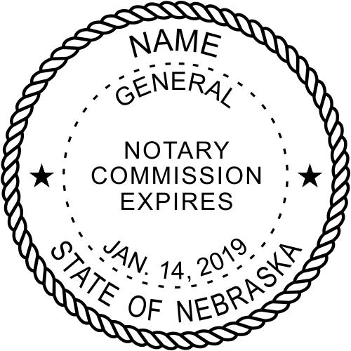Nebraska Notary Round Imprint