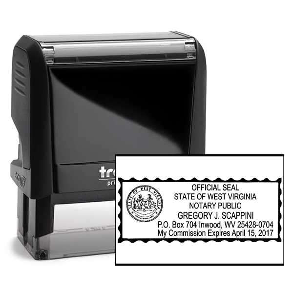 West Virginia Notary Rectangle