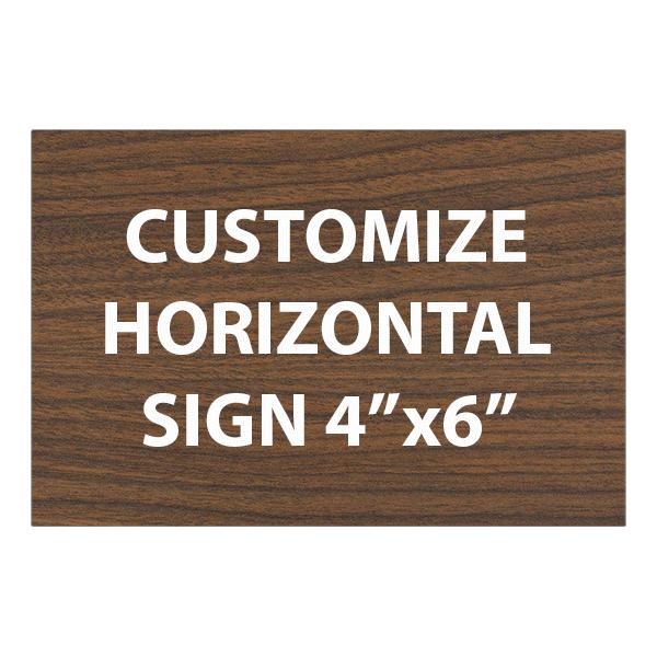 "Engraved Sign Horizontal 4"" x 6"""