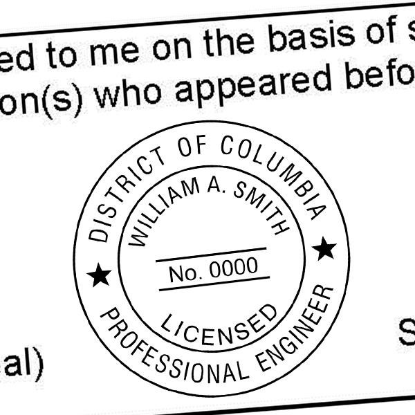 District of Columbia Engineer Seal Imprint