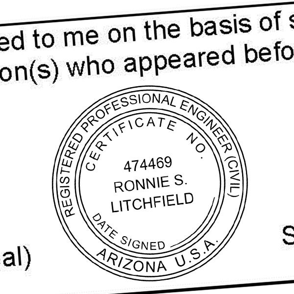 State of Arizona Engineer Seal Imprint