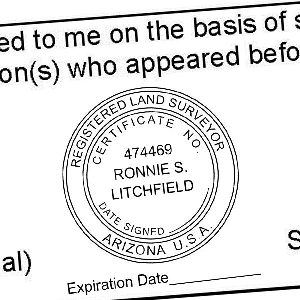 State of Arizona Land Surveyor with Expiration