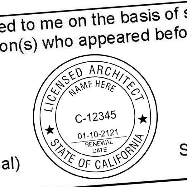State of California Architect Seal Imprint