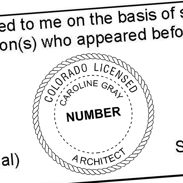 State of Colorado Architect Seal Imprint
