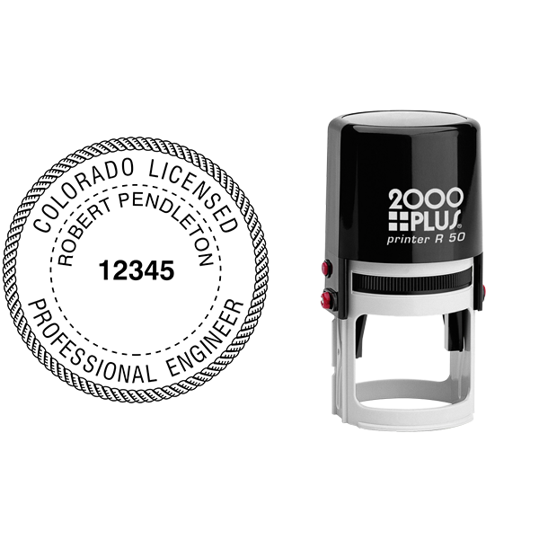 State of Colorado Engineer Seal Seal Body and Imprint