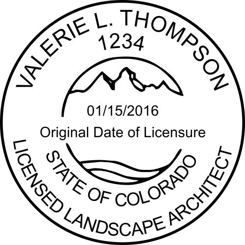 State of Colorado Landscape Architect