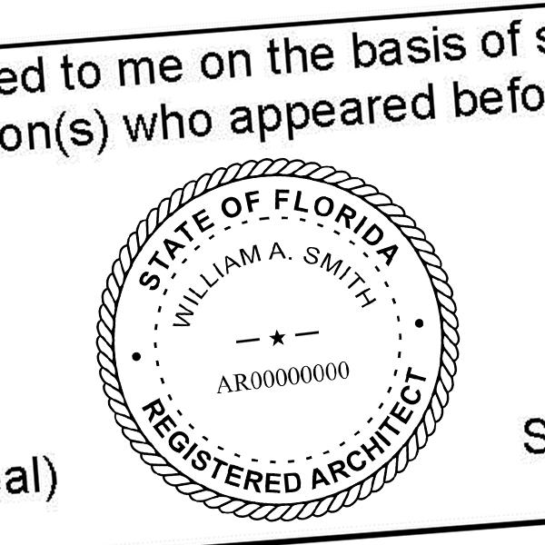 State of Florida Architect Seal Imprint