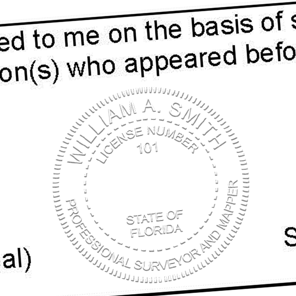 State of Florida Surveyor and Mapper Seal Imprint