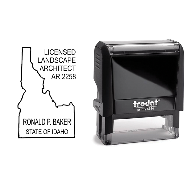 State of Idaho Landscape Architect Seal Body and Imprint