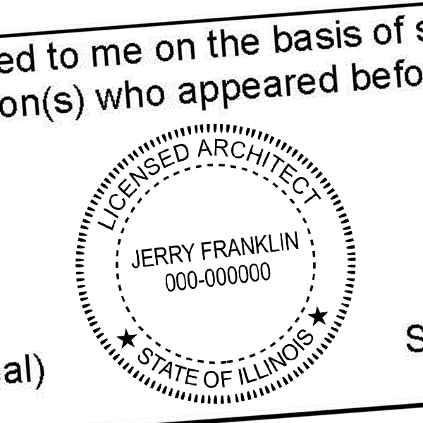 State of Illinois Architect Seal Imprint