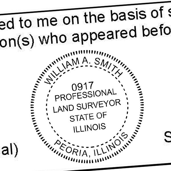 State of Illinois Professional Land Surveyor Seal Imprint