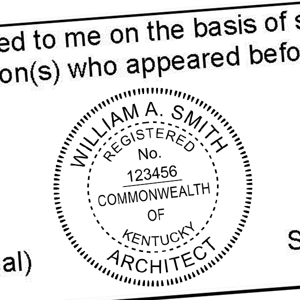 State of Kentucky Architect Seal Imprint
