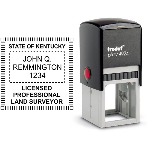 State of Kentucky Land Surveyor Stamp Seal Body and Imprint