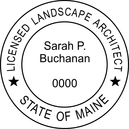 State of Maine Landscape Architect Stamp