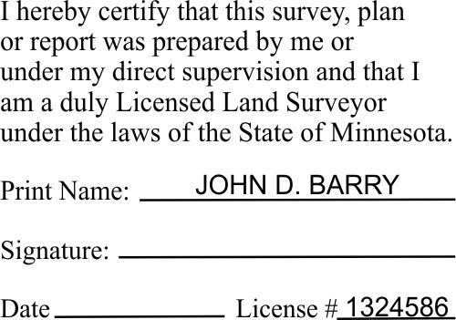 State of Minnesota Land Surveyor Certification