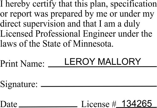 State of Minnesota Engineer Certification