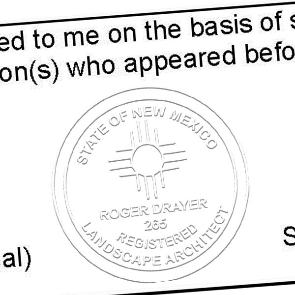 State of New Mexico Landscape Architect Seal Imprint